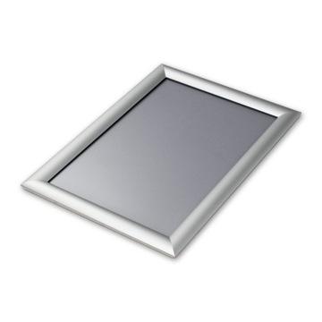 Ramka OWZ aluminiowa B2 zatrzaskowa + folia
