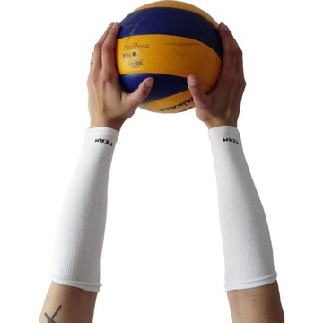 Rękawki białe krótkie prążkowane