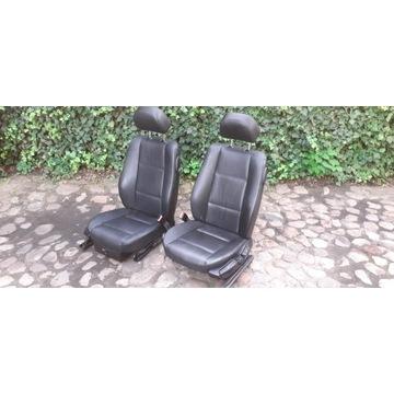 Fotele przód BMW E46 Coupe *Czarna skóra* *Podgrze