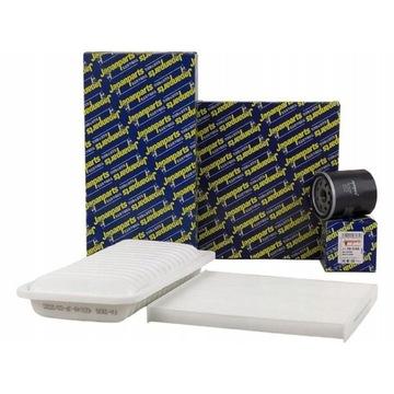 komplet filtrów TOYOTA E12 (powietrze,olej,kabina)
