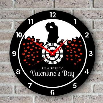 Happy Valentines Zegar Ścienny