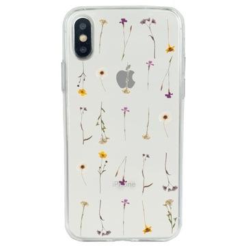 Etui żelowe iPhone XS / X kwiatki polne