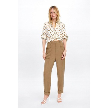 ZARA spodnie casual len lyocell *L
