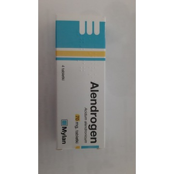 Alendrogen, 70 mg, 4 tabletki