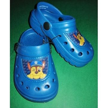 Buty ogrodowe dziecięce klapki psi patrol r. 24~25