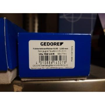 Szczelinomierz wachlarzowy,  0,05-1,00 mm