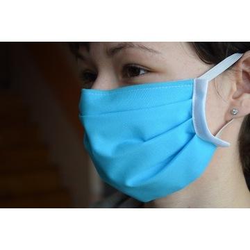 Maska maseczka bawełniana 2 warstwy  usztywnienie