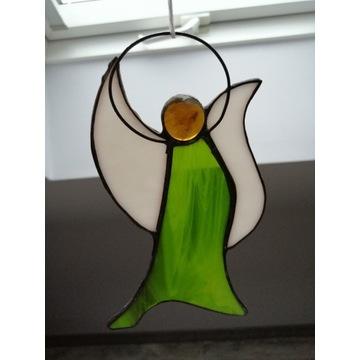 Witrażowy anioł, aniołek (witraż)
