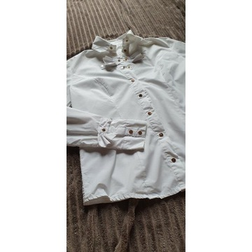 Biala koszula taliowana ELISABETTA
