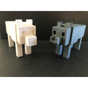Pies z minecrafta - wydruk 3D