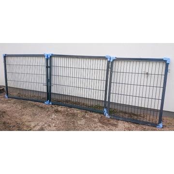 Brama panelowa dwuskrzydłowa + furtka