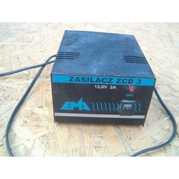 Zasilacz EMA ZCB 3 13,8V 3 A CB Radio i inne PRL
