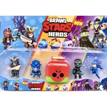 Brawl stars zestaw figurek+mega box super zestaw