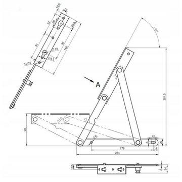 Mechanizm podnośniki do stelaża drewnianego łóżka