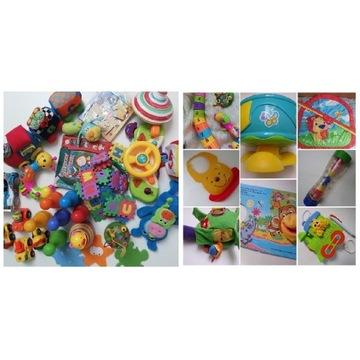 Zestaw edukacyjnych zabawek dla maluszka