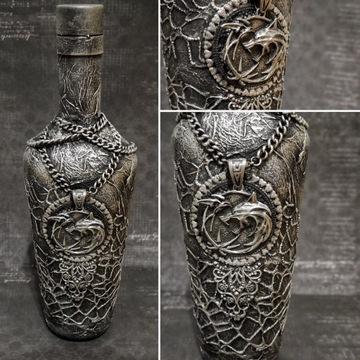 Butelka Wiedźmin The Witcher 700ml rękodzieło