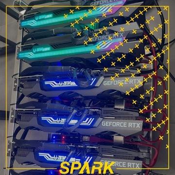 Koparka Kryptowalut - 4X RTX 3080 BTC RVN + GRATIS