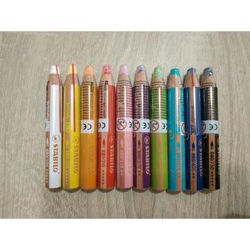 Kredki Stabilo 3w1 woody  10 kolorów