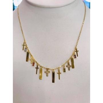 Naszyjnik, celebrytka - złoto pr. 585