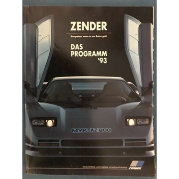 KATALOG ZENDER - 1993r Katalog Niemcy 260 stron.
