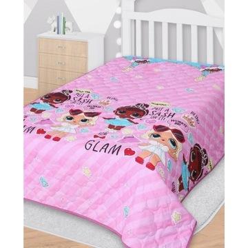 Narzuta na łóżko dziecięca lol 140x200cm pled