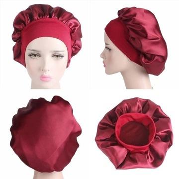 Satynowy czepek turban do włosów