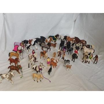 zestaw 44 figurek schleich koń derki siodo kantar