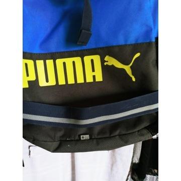 Plecak meski duzy Puma niebiesko zolty