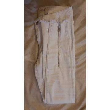 LTB Sweter biały zalando szary bawełniane w Domodi