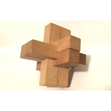 Układanka Logiczna Drewniana Klocki 10x10cm
