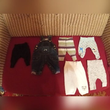 Ubranka dla chłopca rozmiar 56
