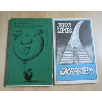 2 książki Okrakiem Jerzy Lipiec Piórka znalezione