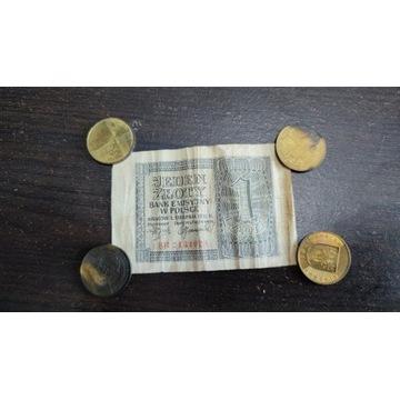 1 zł 1941 rok, seria BB, Polska, banknot, złoty