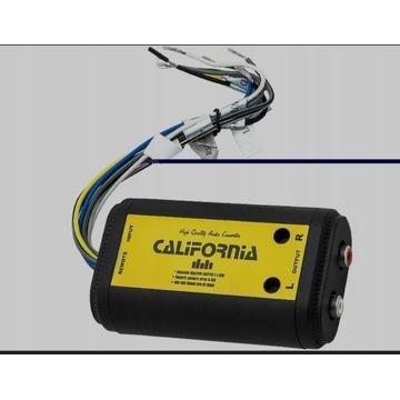 Konwerter poziomu sygnału audio HIGH-LOW RCA
