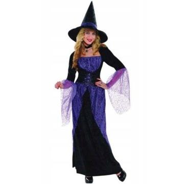 Komplet strój czarownicy haloween rozmiar L