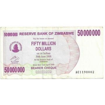 Zimbabwe 50000000Dolarów 2008r