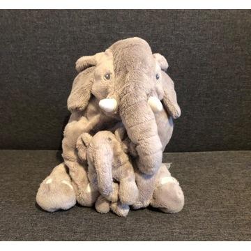 Dwa pluszowe słonie