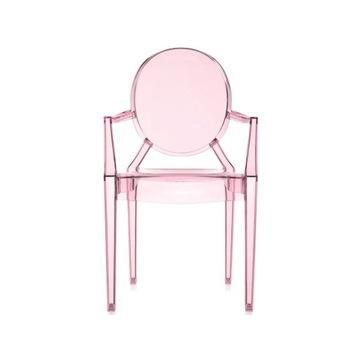 KARTELL Krzesło dziecięce Lou Lou Ghost różowe
