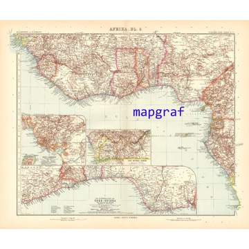 TOGO LIBERIA NIGERIA stara mapa z 1906 roku 71