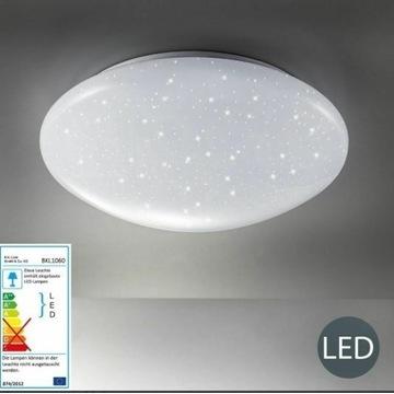 Lampa sufitowa LED efekt gwiazd plafon biały salon