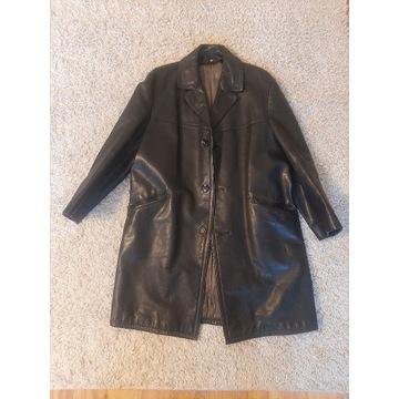 Płaszcz prawdziwa skóra czarny L rozm25 170cm