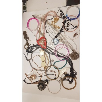 Biżuteria mix mega paka 30szt zestaw różne tanio