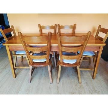 Stół+krzesła dębowe