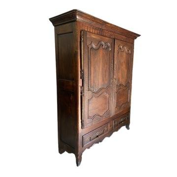 Dębowa piękna szafa Francja przełom XVIII i XIX w.