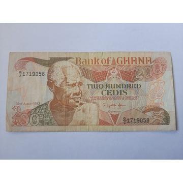 Banknot Ghana Fajny stan rzadki