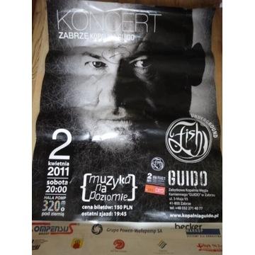 FISH Plakat z autografem artysty wraz z biletem
