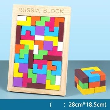 Drewniany Tetris XXL - Kosta Robika