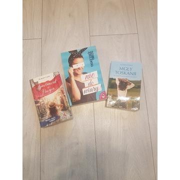 Zestaw trzech książek o miłości i nie tylko :)