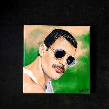 Freddie Mercury Qeen obraz akrylowy 20cmx20cm