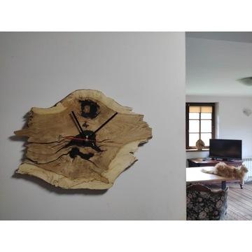 Zegar wiszący. Loft, Rustykalne, Ekologiczne